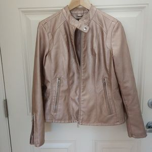 NWOT Metallic rose jacket